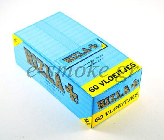Χαρτάκια Rizla Γαλάζιο Μικρό Regular 60Φυλ Box